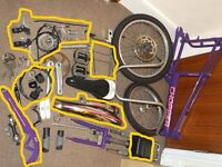 RALEIGH CHOPPER (PURPLE) MK3 (STRIPPED & CLEANED FOR SPARE PARTS AS PRICED)