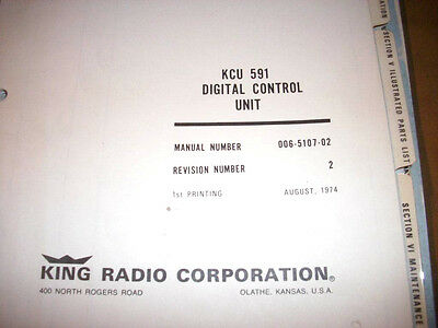 King Kcu 591 Com Digital Control Service Manual