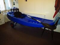Sea Kayak - Sit on top kayak with seat, paddle and trolley included - Fatyak