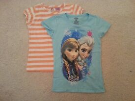 Various Girls Summer Clothes 2-4 Years Old, all good condition - Frozen, Minnie Mouse