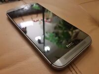 HTC One M8 - Gun metal silver / grey - with box fast charger and new case, good condition