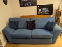 Blue sofas price for both willing to split