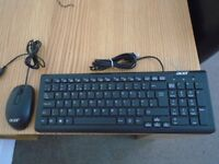 BRAND NEW ACER BLACK KEYBOARD AND MOUSE NEVER USED