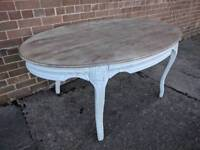Professionally painted French country ornate dining table