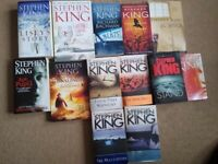 13 Stephen King books in very good condition only £20