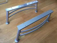 Stylish Steel Coffee Table Legs, Silver Metal Finish, home DIY (possibly IKEA)