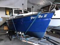 Hardy 20 Pilot Boat for Sale with Brand New 2200kg Marlin Boat Trailer