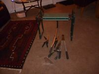 Various garden tools and kneeler, will sell separetely