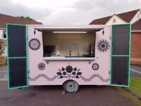 Catering trailer, ready to trade! 3m single axle beautiful trailer with lots of extras