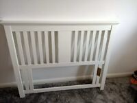 Double bed headboard - White