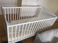 Excellent Condition East Coast Nursery Hudson Cot Bed - White