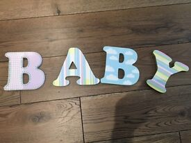 Baby wall plaque