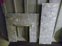 Marble Fireplace Hearth and Back Panel