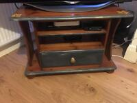 Vintage hand painted rosewood tv stand
