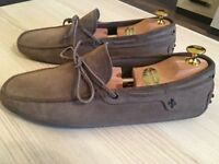 Luxurious Tod's Ferrari mens beige suede loafers, driving shoes, 43 / uk9, RRP £320, priced to sell