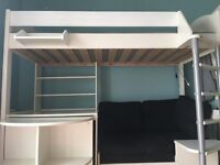Bunk bed with desk and sofa-bed