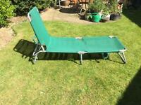 Adjustable Garden Lounger. Lightweight and easy to store. As New