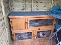 Guinea pig / rabbit cage two tier in used condition but still got plenty of life in it