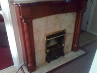 electric fire with mahogony surround