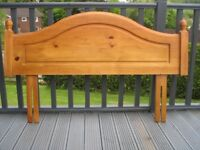 Pine Double Bed Headboard
