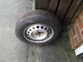 Nissan micra wheel and tyre nearly new done 50 miles 155 70 13