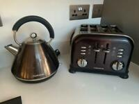 Morphy Richards black silver 4 slice toaster