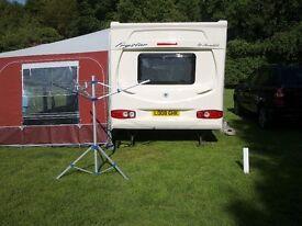 Wheelchair accessable touring caravan.