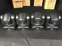 The Minispots x 4 12W CREE LED'S MOVING HEADS