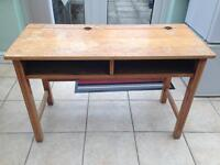 Double school desk with chairs