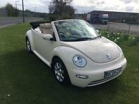 04 REG VOLKSWAGEN BEETLE 1.9 TDi CABRIOLET 2DR-HEATED LEATHER-FULL HISTORY INC CAMBELT-2 KEYS