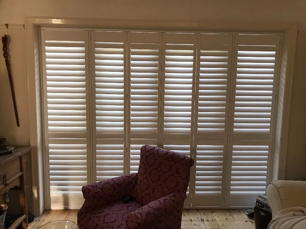 White Plantation Shutters For French Doors In Poole Dorset Gumtree