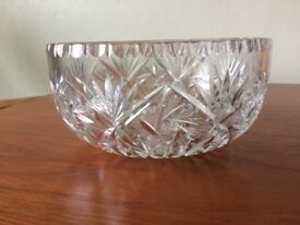Lead crystal fruit/salad bowl