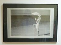 PICTURE!(crackled glass)Beautiful Woman on the Beach Professionally Mounted and Framed Print