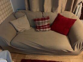 2x 2seater sofas