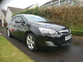 2011 Vauxhall Astra 1.4, MotJul19, Just serviced, 2 new tyres, Black SRI, excellent condition