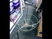 Wire Dump Basket Height 60cm x Diameter 50cm for Retail Sales, Car Boot, Markets, Charity Shops etc