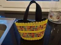Beautiful Beaded Handbag. One off design. Hand made in Uganda.
