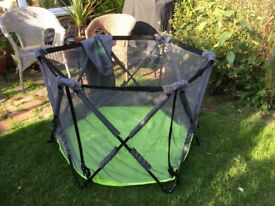 Summer playpen with cover.