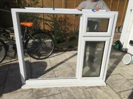 PVC double glazed window with glass.