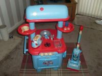 kids Early Learning Kitchen with matching toaster and hover. Good condition