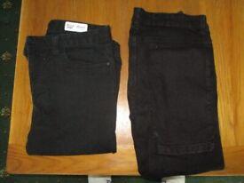 (2) PAIRS SKINNY JEANS (BLACK) BRAND NEW. UNWORN £10