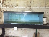2 FISH TANKS 4FT AND A 6FT PLUS BOX OF FILTERS