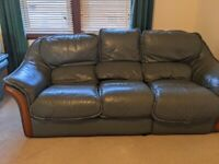 Quality Italian Leather Sofa and chairs