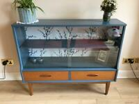 Jentique Bookcase, Display Cabinet, Vintage 1960's, upcycled