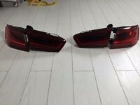 Genuine audi a6 c7 2015 facelift rear led tail lights complete