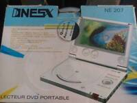 Portable Dvd player for home & car (with plug and adaptor + charger)