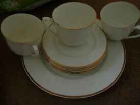 Assorted plates cups.saucers