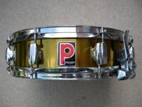 """Premier 2024 Limited edition alloy snare drum 14 x 4"""" - Leicester - '80s - Gold lacquer"""