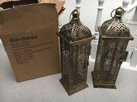 Arabian style lanterns brand new in box!
