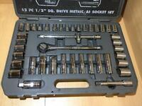 "Draper 42 PC 1/2"" SQ. Drive Metric/AF Socket Set"
